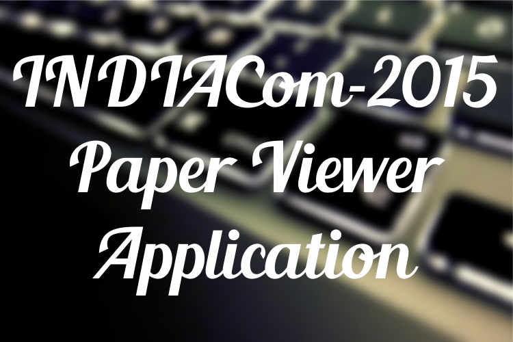 INDIACom Paper Viewer App